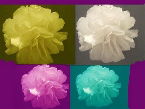 How To Make Flower Paper Balls - learn how to make tissue paper flowers or topiary balls