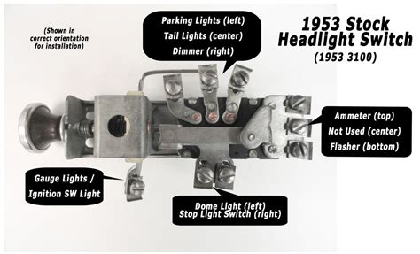 1953 chevy truck headlight switch wiring diagram 48