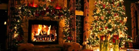 christmass tree fireplace facebook cover photo fbcovercom