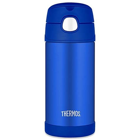 bed bath and beyond thermos thermos 174 12 oz stainless steel straw bottle in blue bed