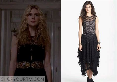 Frock Horror Of The Week by Day Rabe Wears This Black Lace Maxi Dress In