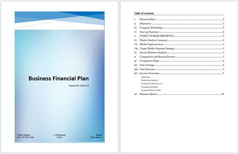 4 microsoft business plan template procedure template
