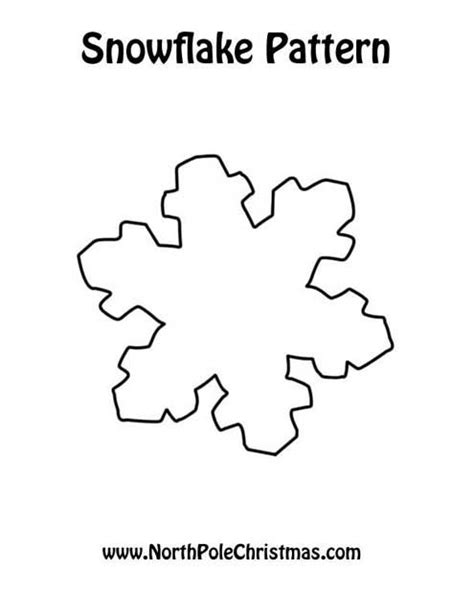 snowflake outline new calendar template site