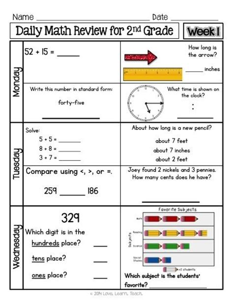 3rd grade daily math review worksheets common daily math practice worksheets papers free 2nd grade daily math worksheets