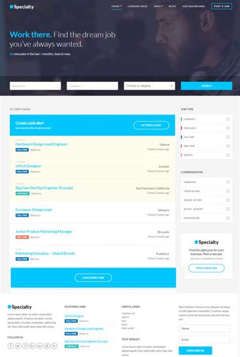 themes store com specialty review cssigniter job board theme worth
