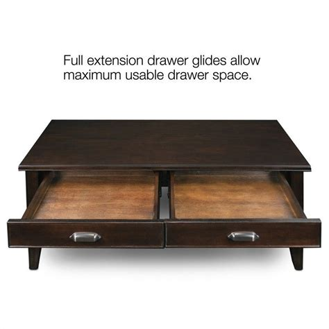 Solid Cherry Coffee Table Leick Laurent Two Drawer Solid Wood Coffee Table In Chocolate Cherry 10504