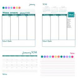 2014 free printable daily planner amp blog calendar
