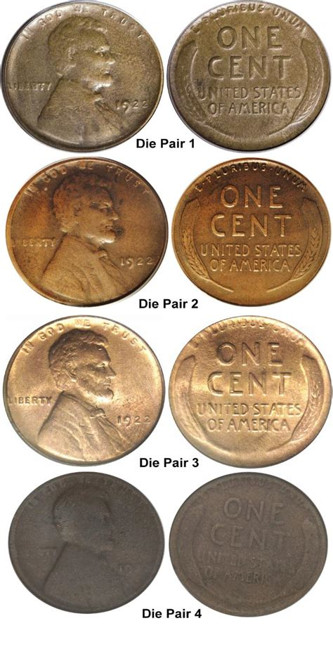 lincoln cent varieties 1922 weak d and no d lincoln cent varieties