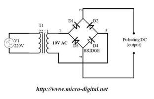 wave bridge rectifier supply micro digital