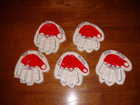 homemade christmas  handprint ornaments nasagreen