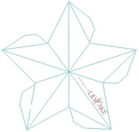 lilyoake 3d star ornament