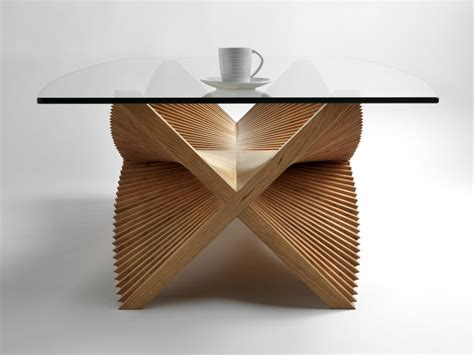 Handmade Contemporary Furniture - beating wings sculptural coffee table handmade