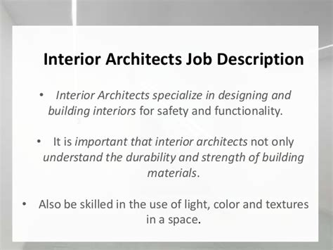interior design job description itd project 1 interior architect