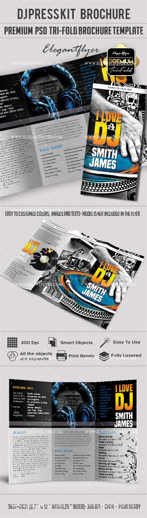 dj press kit template free brochure for dj press kit by elegantflyer