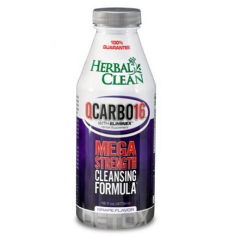 Herbal Clean Detox Qcarbo 20 Reviews by Qcarbo Detox 16 Oz Grape