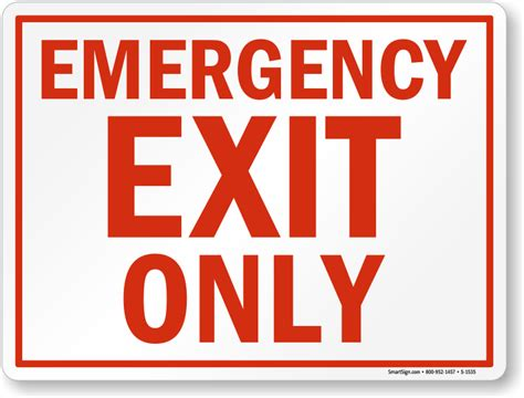 Emergency Exit Floor Plan Emergency Exit Only Signs Fire And Emergency Signs Sku