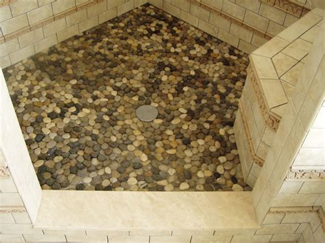 pebble tile shower floor color robinson decor - Pebble Shower Floor