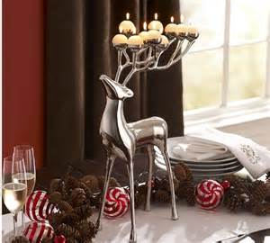 pottery barn reindeer candelabra silver plated reindeer candelabra modern candleholders