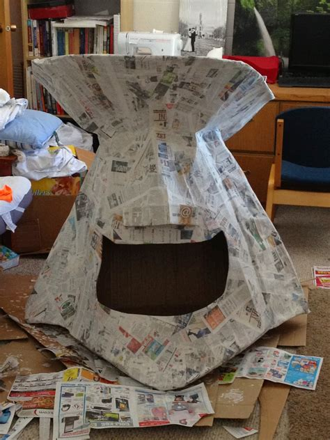 How To Make A Big Paper Hat - spencer s artistic adventure paper mache