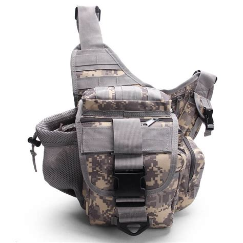 Sling Bag Silver Army Tas Army Acu Digital Series okaly tactical outdoor waist pack for army fans
