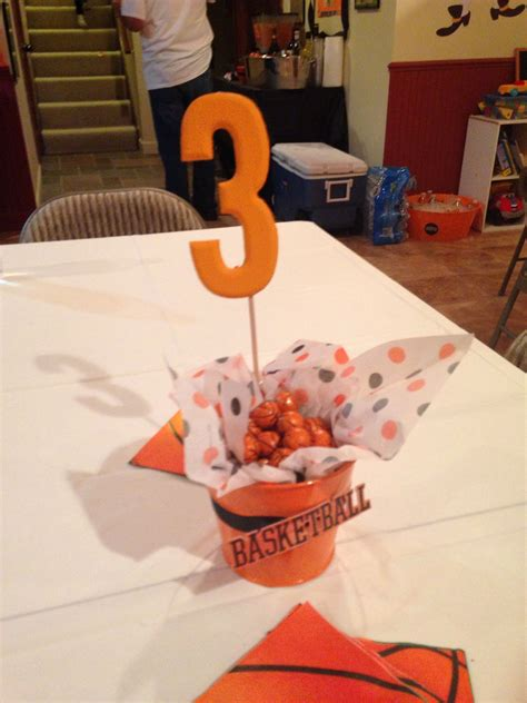 theme table decorations centerpieces basketball theme birthday bash