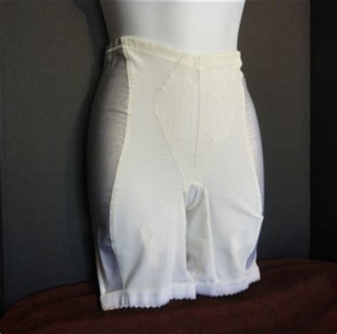 satin girdles for men vintage willowform long leg 4 garter panty girdle satin