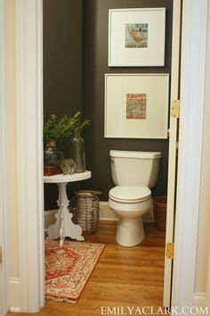our powder room makeover from damask to emily bamboo mirror pedestal sink and powder rooms on pinterest