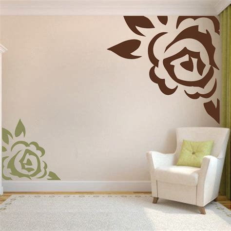 trendy wall designs corner rose vinyl wall art design trendy wall designs