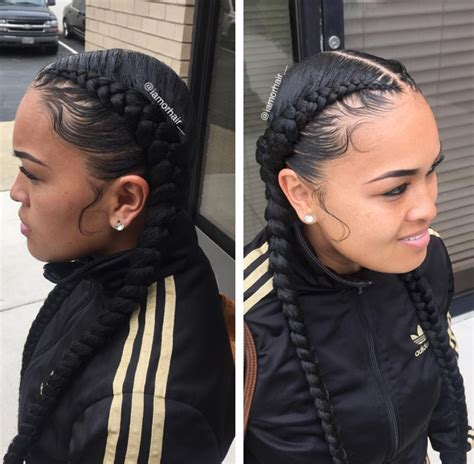 hairstyles that are curly on the edges braids and laid edges by iamorhair http community