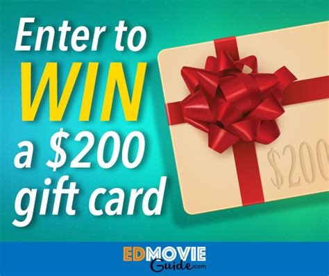 200 Gift Card - 200 gift card contest contests and promotions edmovieguide com