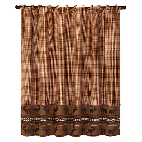 wilderness shower curtain pine cone shower curtain and valance cabin place