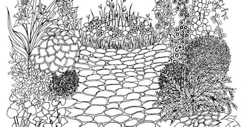 dover whimsical gardens  adult coloring pages