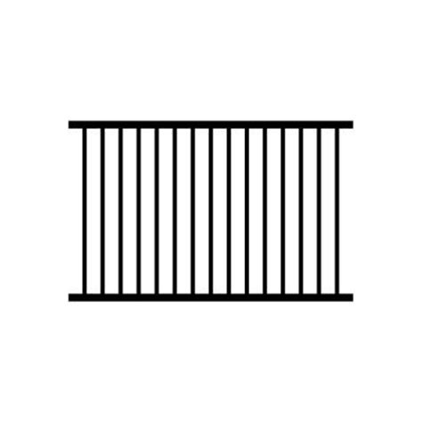 aluminum fence sections jerith 4 ft h x 6 ft w black ovation aluminum fence