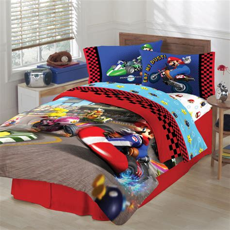 walmart boys bedding super mario twin full reversible comforter walmart com