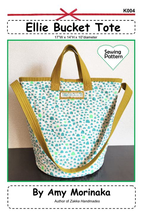 bucket tote bag pattern pdf ellie bucket tote zakka sewing pattern instant