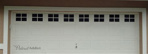 Garage Door Faux Window Creating A Faux Carriage Garage Door Addict