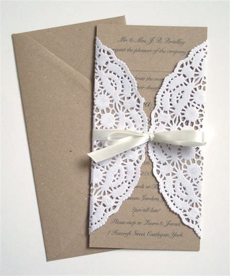 Paper Lace Wedding Invitations by Paper Lace Wedding Invitation Sle Paper Lace Wedding