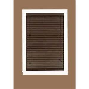 home depot wood blinds madera falsa mahogany 2 in faux wood plantation blind