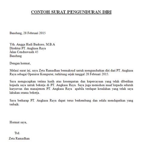 format surat pengunduran diri siswa contoh surat pengunduran diri dari sekolah sebagai siswa
