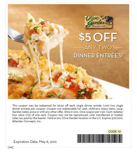 Printable Olive Garden Coupons by Olivegarden Coupon 2015 Best Auto Reviews