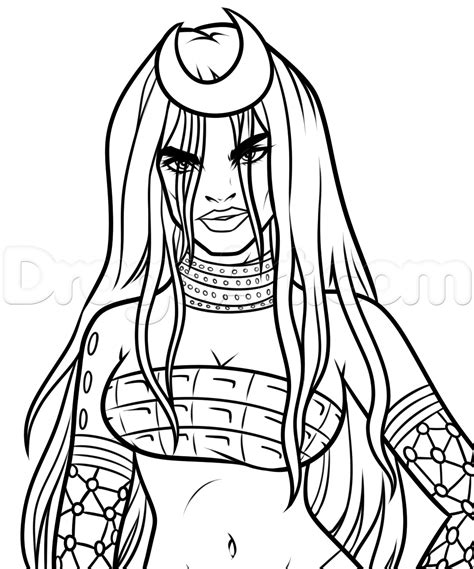 How To Draw Enchantress From Suicide Squad Step By Step Dc Villians Pinterest Step Squad Coloring Page