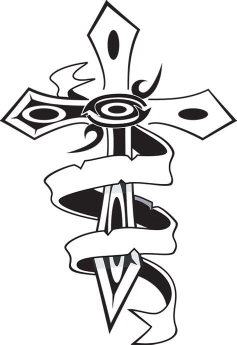 gambar tattoo png gratis vectorafbeelding kruis lint christelijke