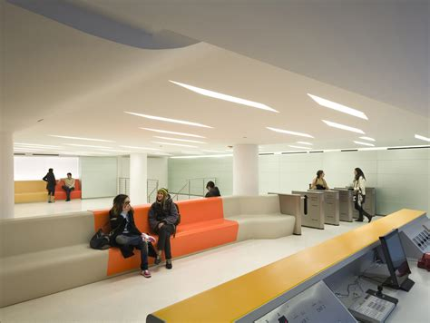 school lobby  student lounge  architect