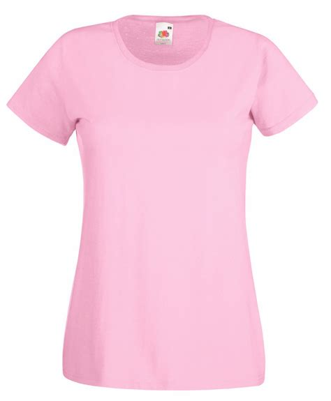 light pink shirt womens light pink fruit of the loom ladies t shirt s m l xl ebay