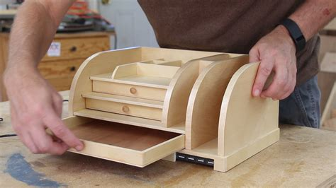 desk organizer woodworking plans desk organizer with charging station woodworking for