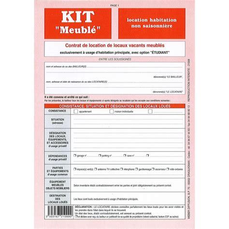 contrat location chambre meubl馥 contrat de location meuble gratuit pdf 1 contrats de