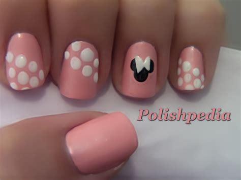 tutorial nail art minnie minnie mouse nail art polishpedia nail art nail guide