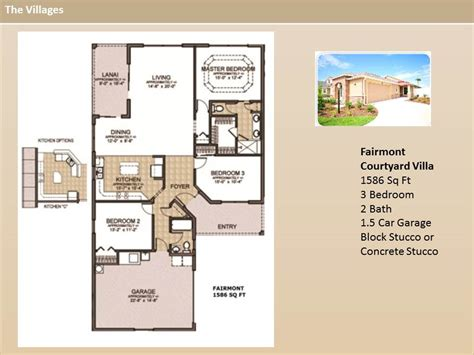 the villages homes courtyard villas fairmont model
