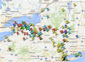 New York Breweries Map by Farm Brewery New York State Brewers Association