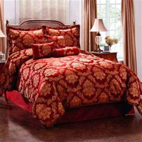 red and gold comforter set buy comforter set red gold from bed bath beyond